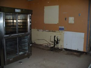 Old deli area after equipment and cupboards removed