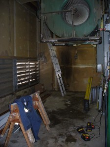Electrical room with all the old condensers removed