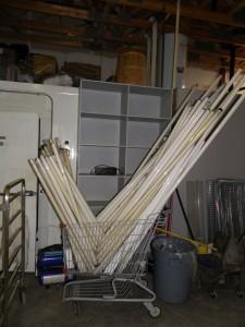 old florescent tube lights ready for safe disposal