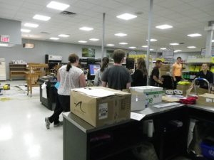 cashier training a few days before opening