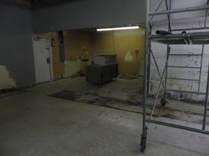 deli area all cleared out