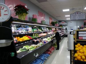 Bruce county groceries presh produce display refrigerators