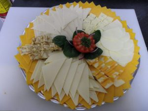 beautiful cheese tray at Paisley freshmart