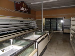 meat area before the reno