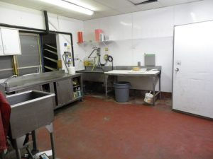 meat area before the renovation