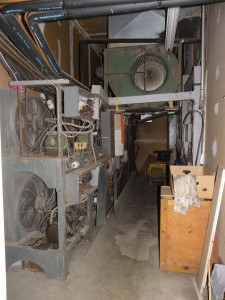 electrical room before the renovation