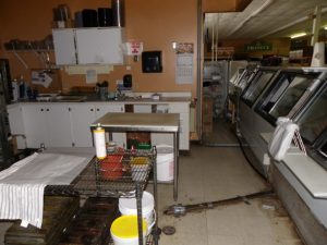 Before the reno - deli area