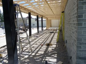 May 28th construction of new porch