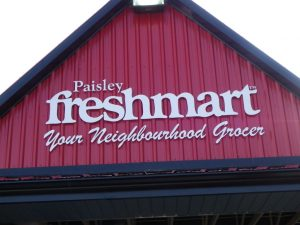 Our new store sign