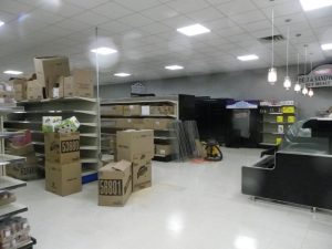 groceries ready for the shelves at the new Paisley freshmart