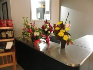 flowers from friends & businesses