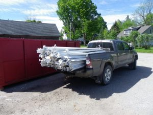 load of old florescent tubes for recycling