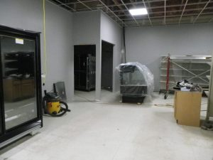 new bakery area being constructed