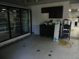 new cupboards in the deli