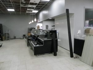 New deli equipment is in place