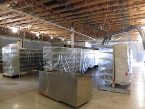 working on new suspended ceiling May 14