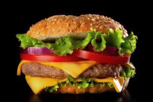 Lunch: Hamburger & Potato Chips