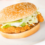chicken burger for lunch in paisley