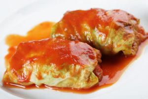 Lunch:  Cabbage Rolls & Rice