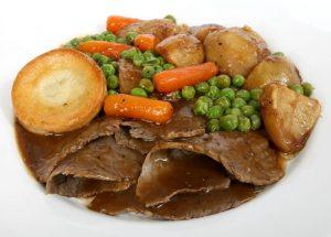 Roast Beef Dinner (served 4:00-5:45pm)
