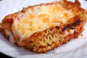 Lunch:  Lasagna & Garlic Toast